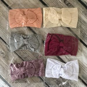 Other - Brand New Set of 6 Baby Toddler Girl Headbands